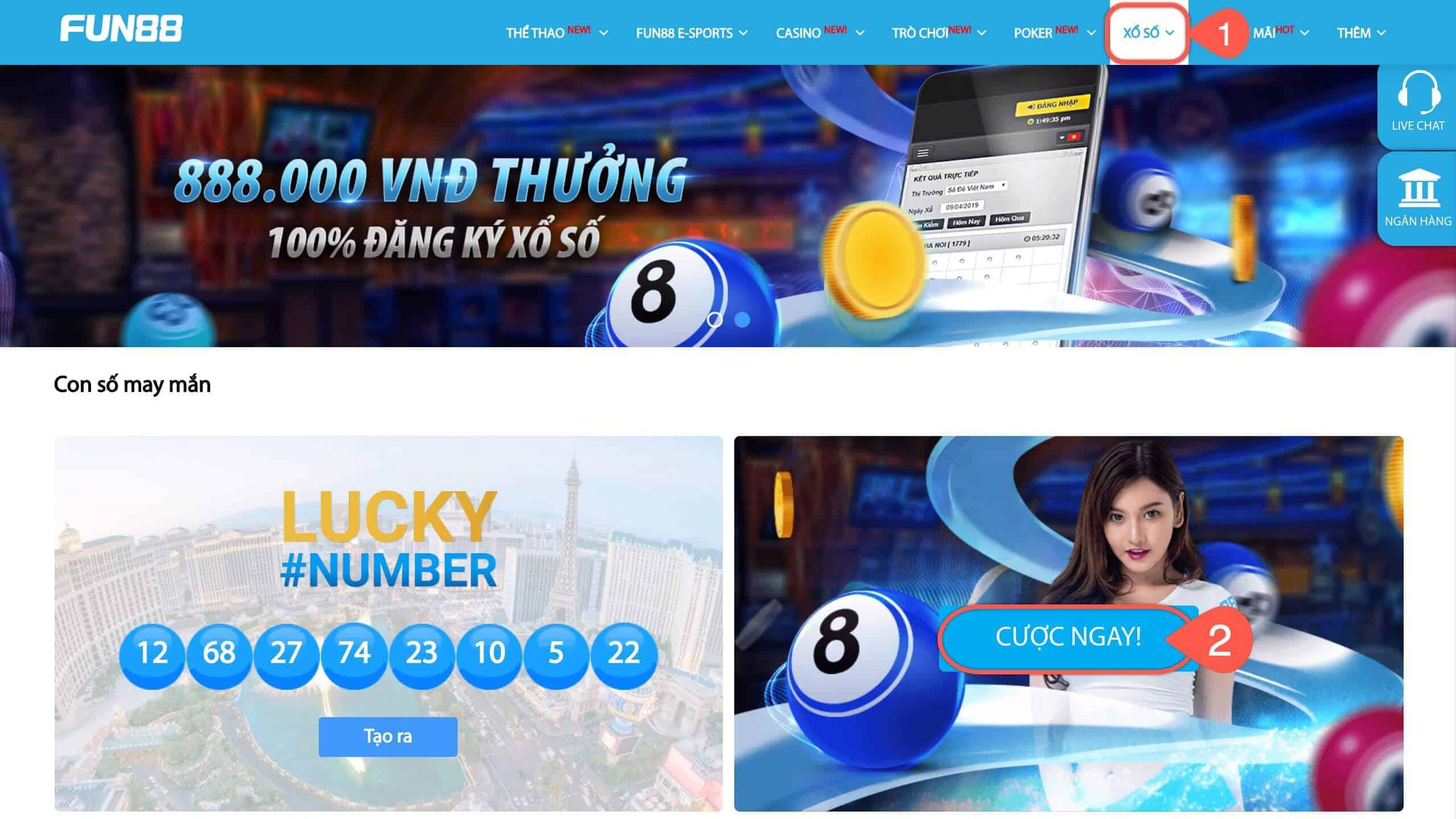 dẫn cách chơi xổ số online